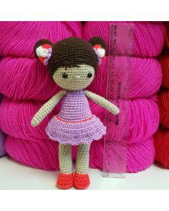 Вязаная кукла 18см