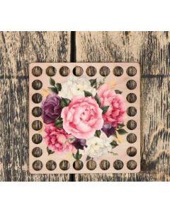 Заготовка для вязания квадрат Цветы,10 см