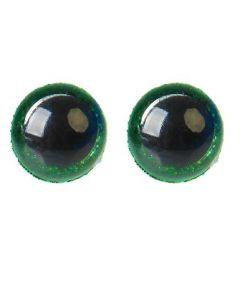 Глаза винтовые с блёстками, 1,2 см, зелёный