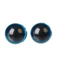 Глаза винтовые с блёстками, 1,2 см, голубой