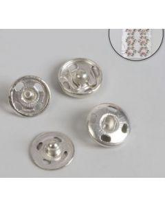 Кнопки пришивные, d = 10 мм, серебро