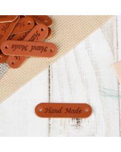 Нашивка «Hand made», 4,5 × 1,3 см