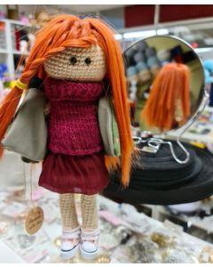 Кукла интереьерная вязаная, 28см