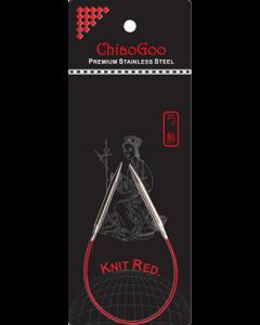 Спицы круговые ChiaoGoo Knit Red 23см