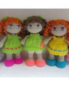 Кукла кудряшка 21см