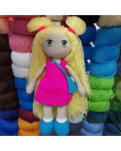 Вязаная кукла 30 см