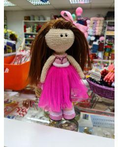 Кукла в розовом платье, 25см