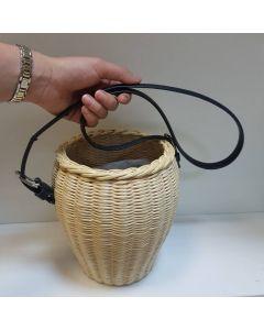 """Плетеная сумочка """"Бочонок"""""""